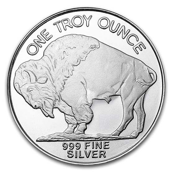 1 oz Silver Rounds - Buffalo